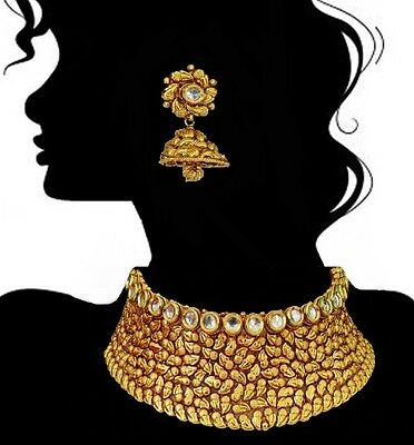 Bridal Set Indian Wedding Jewelry Bollywood Party  Necklace Earrings New Design.