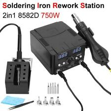 2in1 Soldering Desoldering Rework Station Soldering Iron Hot Air Gun Smd Welding