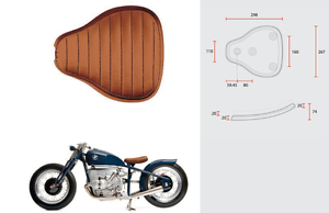 Selle-Bobber-monoplace