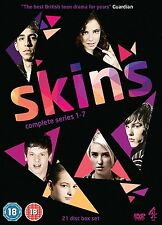 Skins - Complete Series (Seasons) 1 2 3 4 5 6 7 Collection Box Set | New | DVD