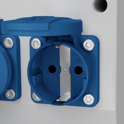 Stromverteiler eXT-S//FI 32A 16A 4x230V Schuko 3Phasige Stromzähler Doktorvolt®