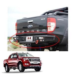 Rear-Bumper-Steel-Hamer-LED-Lamp-Matte-Black-Hook-Fit-Ford-Ranger-T6-2012-2017