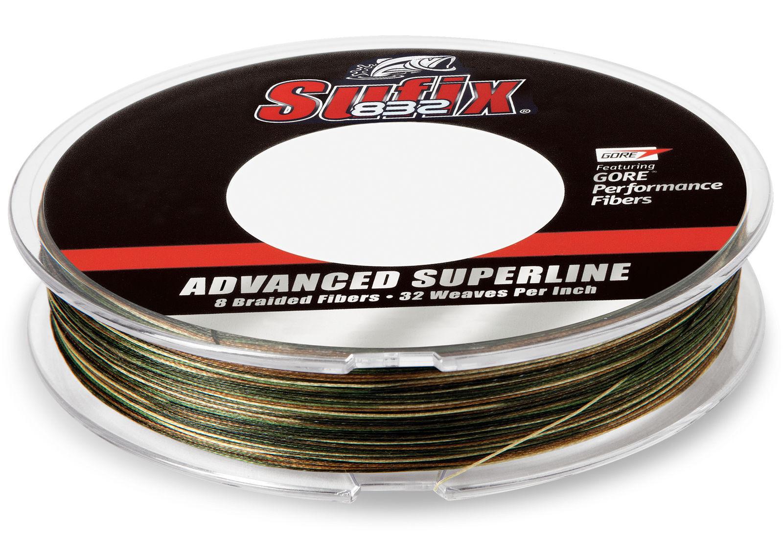 Sufix 660-220CA 832 Advanced Superline  Fishing Braid 20 lb 600 yds Camo  guaranteed