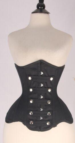 Acciaio Bones Busto Back Front 7xl ~ Black Denim Corsetto Lace Under Jeans Busk 2xs Up ngYXS