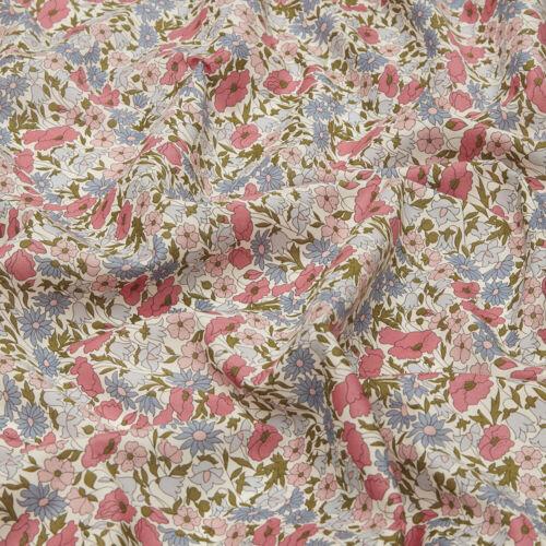 Liberty Art Tela ~ abundancia//Acolchar confección Capel Wiltshire Rojo Peonía