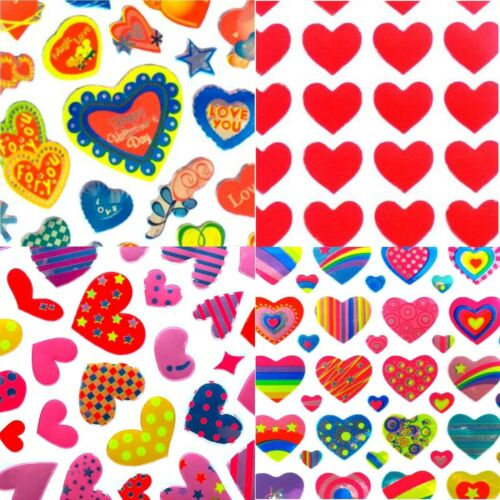 Heart Stickers Set 235 Assorted Love Hearts for Wedding Cards Mothers Day etc