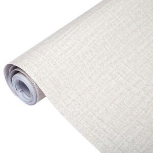Home Cal Waterproof Self-Adhesive Paper Wallpaper,Beige Linen Color,1.97 x16.4ft