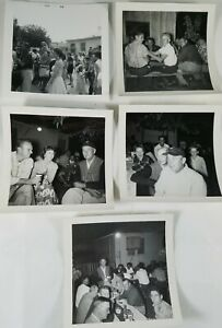 Aaaayyyy-That-039-s-the-50-039-s-Nice-Lot-of-5-Group-Photos-from-the-1950-039-s-3-034-X-3-034
