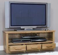 Arden Solid Oak Living Room Furniture Plasma Television Cabinet Stand Unit
