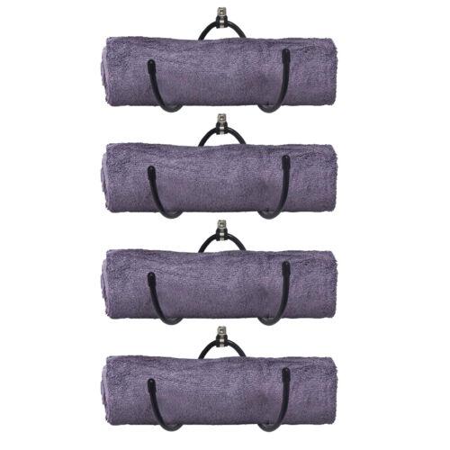 Easy Wall Mount Full Hardware Foam Roller /& Yoga Mat Storage Rack 4pcs//Set
