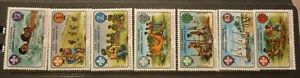 OLD-BOY-SCOUT-GIRL-GUIDE-STAMP-COLLECTION-GRENADA-1977-JAMBOREE-SET-OF-6-MINT