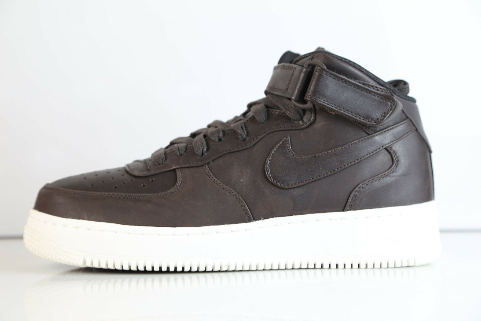 Nike laboratorio air force 1 metà velvet brown vela 905619-200 - 12 nikelab cuoio