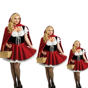 Sexy-Women-Little-Red-Riding-Hood-Halloween-Costume-Fancy-Dress-Skirt-Plus-S-4XL