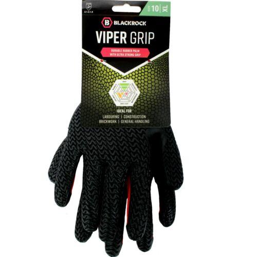 Blackrock Viper Ultra Puissant Professionnel Grip Gant Noir Rouge Taille 9//L 10//XL