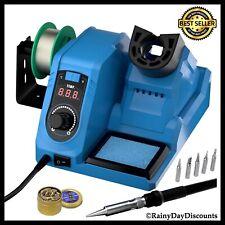 Soldering Iron Station Kit Adjustable Temperature Led Digital 10 Min Sleep Mode