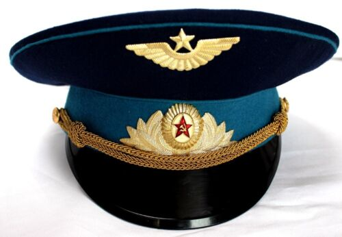 Large size SOVIET AIR FORCE OFFICER PARADE CAP