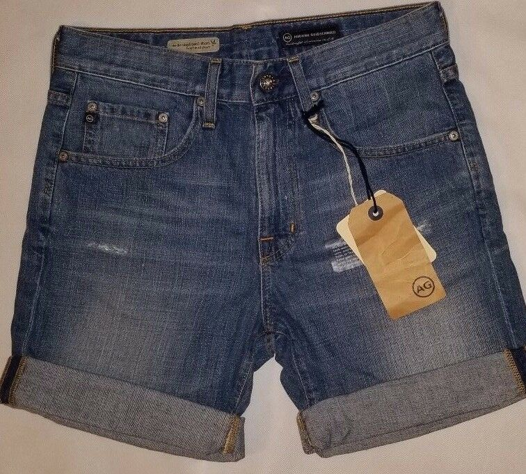 Adriano goldschmied AG JEANS Ex Boyfriend Shorts 26 NWT  195 Distressed