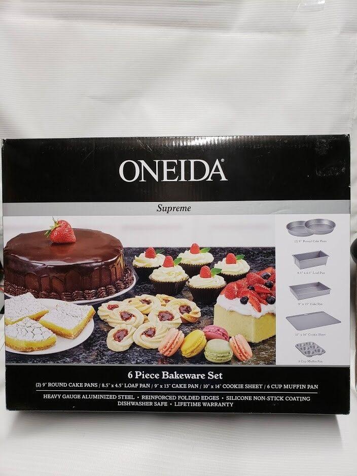 Oneida Supreme 6 Pièces Ensemble d'ustensiles de cuisson Livraison gratuite Neuf