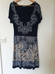 Joe-Browns-Floral-Print-tramo-Crochet-Dobladillo-Vestido-Talla-18
