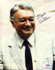 Mel-Allen-Psa-Dna-Coa-Autograph-8x10-Photo-Hand-Signed-Authentic