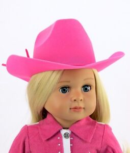 Doll-Clothes-AG-18-034-Western-Cowgirl-Hat-Hot-Pink-Fits-American-Girl-Dolls
