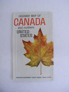 Details about Vintage 1961 Highway Map Of Canada And Northern United States