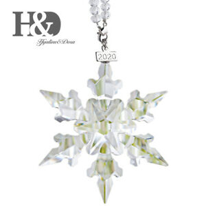 Clear-Crystal-Snowflake-Collectables-Large-Holiday-Ornament-Christmas-Tree-Decor