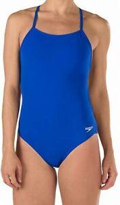 Speedo-Women-039-s-Swimwear-Blue-Size-30-One-Piece-Swimsuit-Endurance-69-393