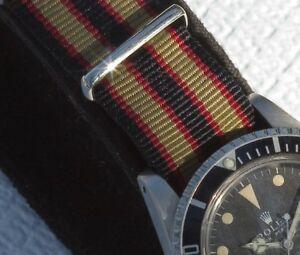The-New-Bond-Khaki-20mm-nylon-military-watch-strap-khaki-red-and-black-stripes