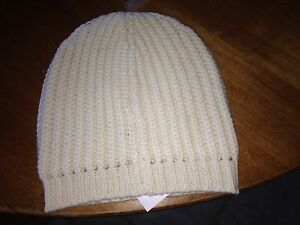 69f534465fc Details about NWT J. Crew  34.50 Wool Blend Ivory Chunky Ribbed Beanie Cap  Hat FREE SHIPPING