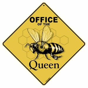 Office of the Queen Sign NEW 12x12 Metal Bees Apiary