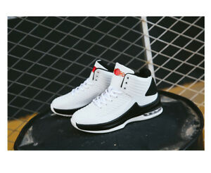 New-Men-039-s-Fashion-Basketball-shoes-Pu-air-cushion-shoes-High-class-sports-shoes