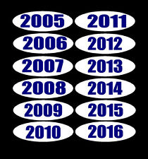 "+CAR DEALER LOT 6 doz 14/"" OVAL 4 DIGIT 2012-17 YEAR MODEL WINDOW STICKER Y//Black"