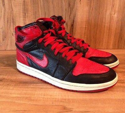 official photos 3680b 84bab RARE🔥Nike Air Jordan Retro 1 Banned Black And Red Bred Ban Royal Shadow SZ  10.5 | eBay