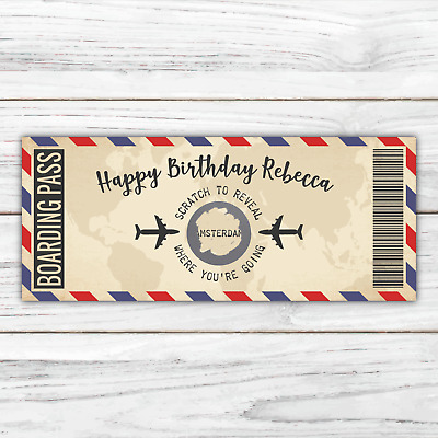 Scratch off birthday surprise card personalised for birthday any name free post