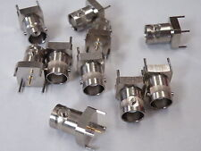 10 Pcs Square 4 Pin PCB Mounting BNC Socket High Quality ER14