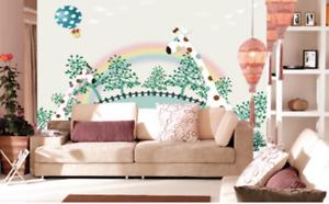 3D Wald Giraffe Karikatur 8445 Tapete Wandgemälde Tapeten Bild Familie DE Summer