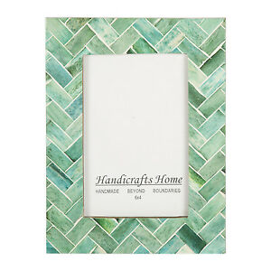 Handicrafts Home 4x6 Nature Green Bone Picture Photo Frame Chic