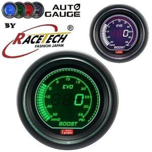Auto Gauge Evo Digital Boost Gauge White Green 52mm Waterproof sensor