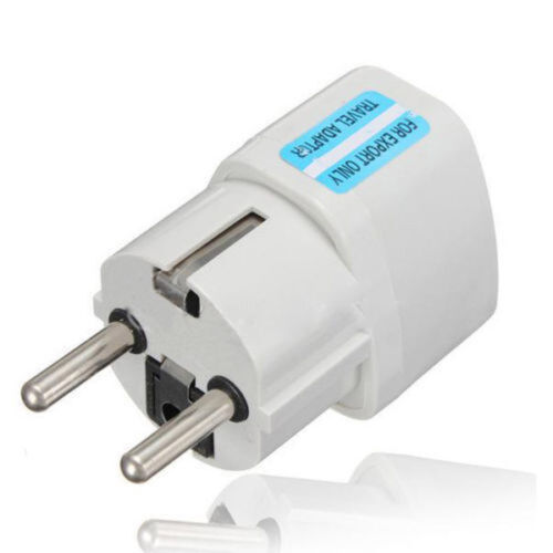 2PCS USA US UK AU To EU Europe Travel Charger Power Adapter Converter Wall Plug^