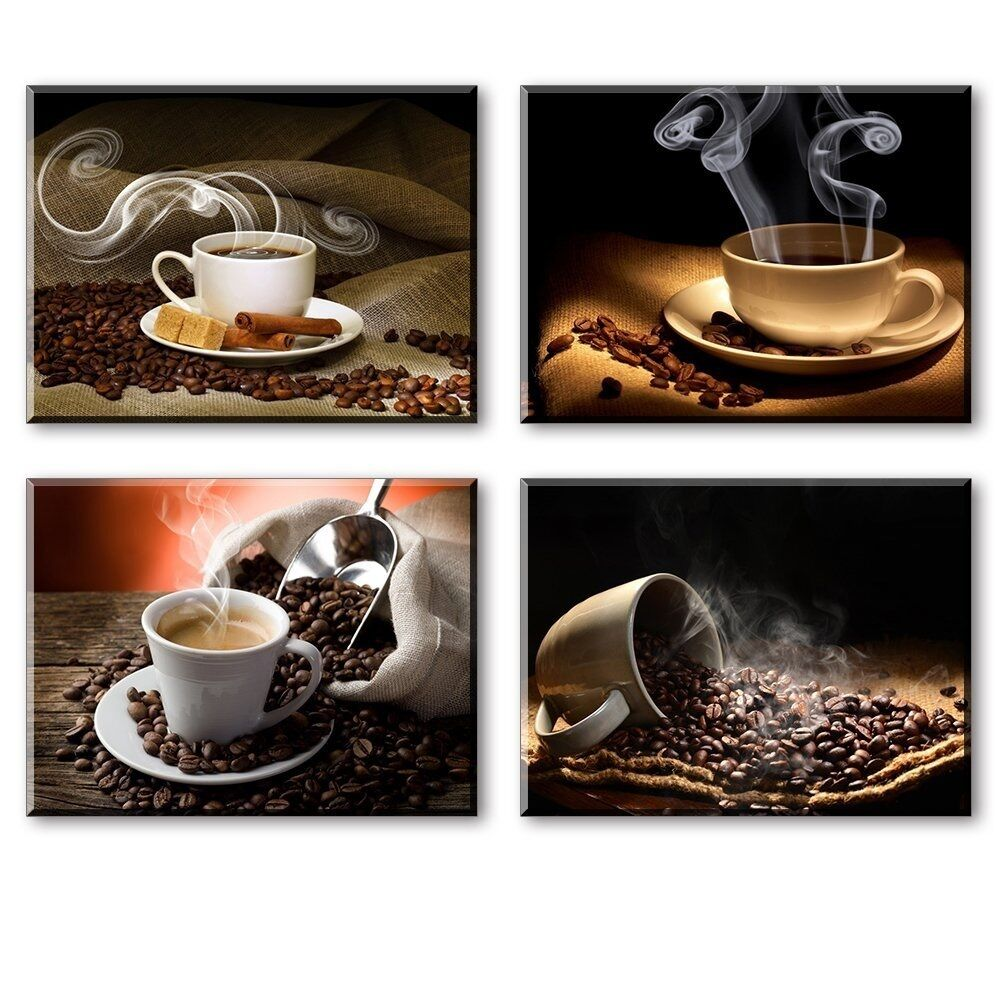 Hot Coffee Beans Canvas Prints Wall Art Picture Framed