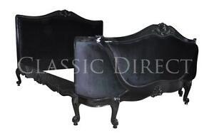 Out-of-stock-Bed-King-French-Provincial-Black-Velvet-amp-Black-Frame-Louis-XV