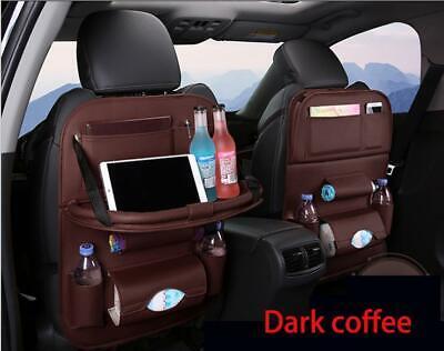 Car Back Seat Organizer Foldable Table Tray Storage Holder Pocket