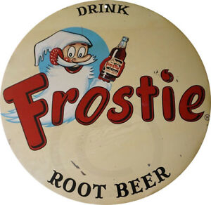 Drink-Frostie-Root-Beer-Vintage-Reproduction-Metal-sign-8-inch-round