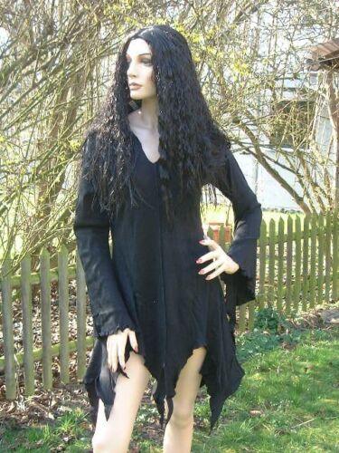 Gothic Mittelalter Hoodie Kapuze Pullover Zipfel Shirt Tunika Top schwarz 40 42