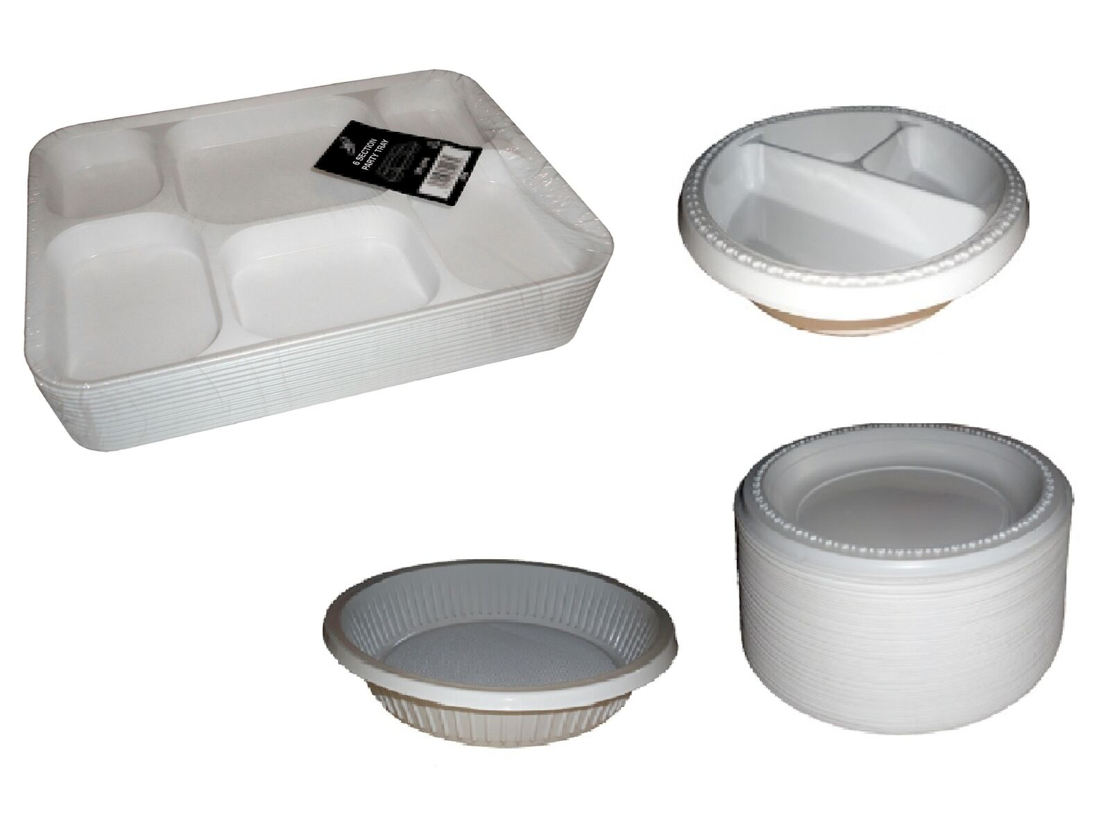 Disposable Plastic Plates Party   Catering Select Size & Qty
