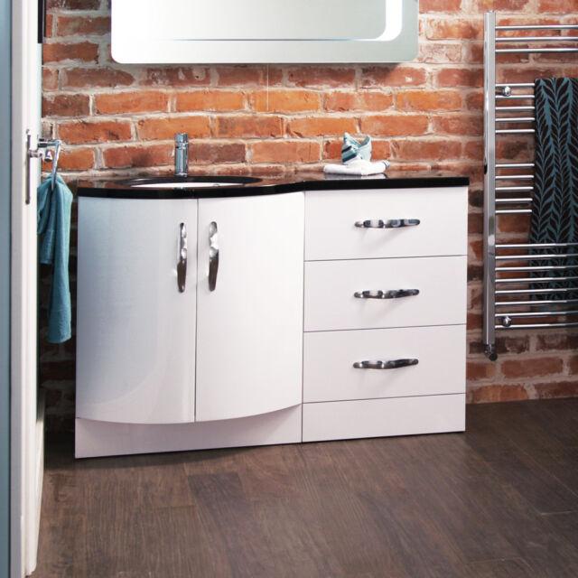 Bathroom Vanity Cabinet ; Floor Standing Left Hand ; Doors & Drawer Storage Unit