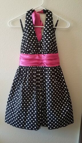Love Tease Size 9 Retro Black, White, & Pink Polka