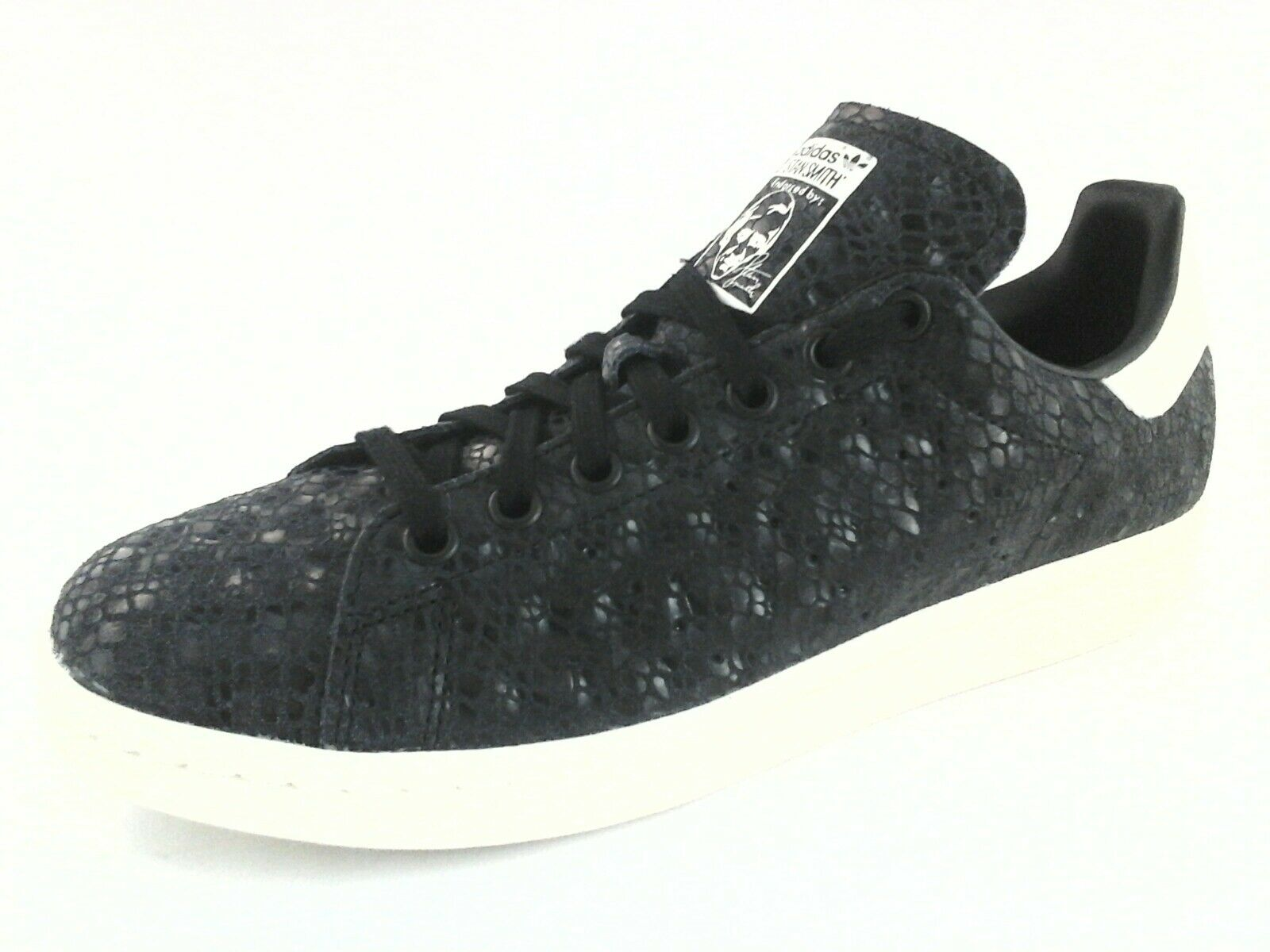 Adidas stan smith le donne scarpe s77344 nero / snake embcuoio noi 8,5 / nero 3 8722f9