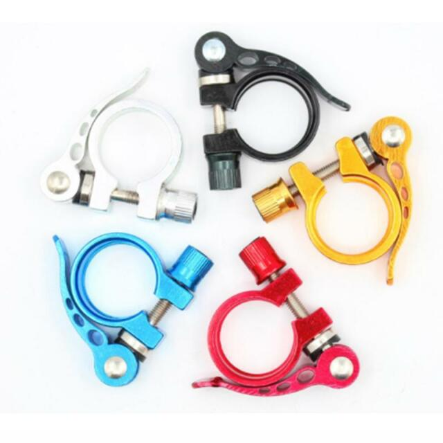 Bicycle Alloy Saddle Seat Clamp 28.6 mm Road Bike Cycle Quick Seatpost U6Z4 A0N4